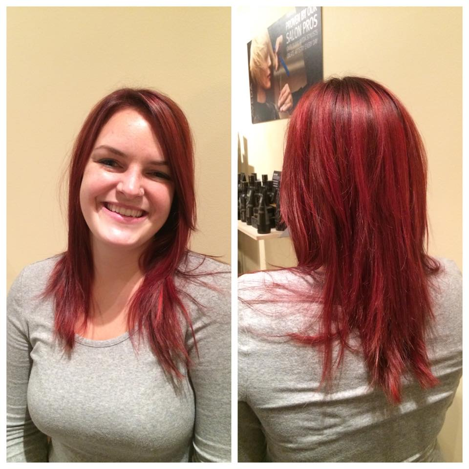 Rockin' Reds!  Aveda's color is completely customizable.  Come in for a change!