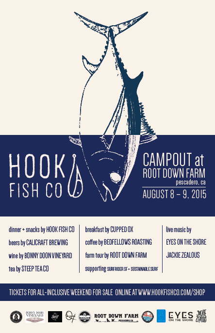 bedfellows roasting company is teaming up with hook fish co. to provide a public campout event with live music, dinner, camping, breakfast, and of course...COFFEE.  tickets: http://www.hookfishco.com/product/hook-campout/