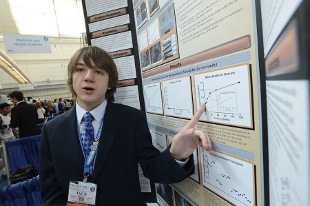 Jack Andraka showing off his research. Photo Credit Wikimedia Commons.