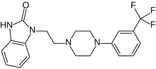 The chemical structure of flibanserin. Photo credit: Vaccinationist/Wikimedia Commons