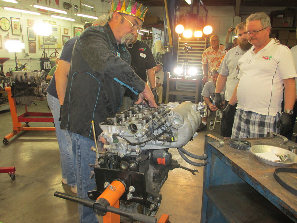 007 Mike demonstrating how to change a timing belt 1 3-28-15