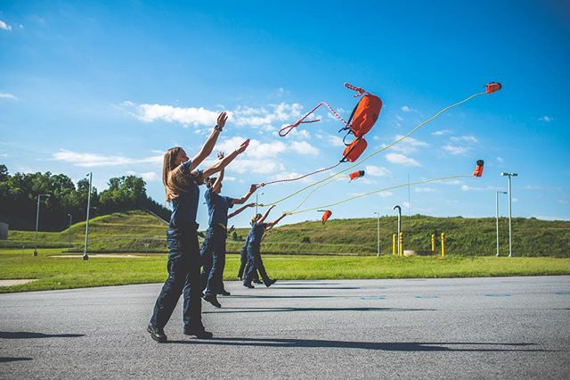 Up, up, and away! This EMS class is literally learning the ropes. . . . . #mcdowellphotographyproject #training #ems #emergencyresponse #rodeo #abtech #marketing #commercialphotography #ncphotographer