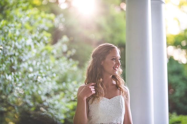 🌻💄☀️💍😻👰🏼 . . . . . #mcdowellphotographyproject #redlips #goldenhour #carrierhouse #wnc #ncphotographer #ncweddingphotographer #vintagewedding #allnaturalbeauty #shefly #bride #bridal #photooftheday