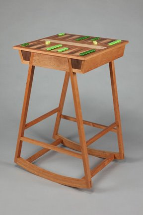 rocking backgammon table