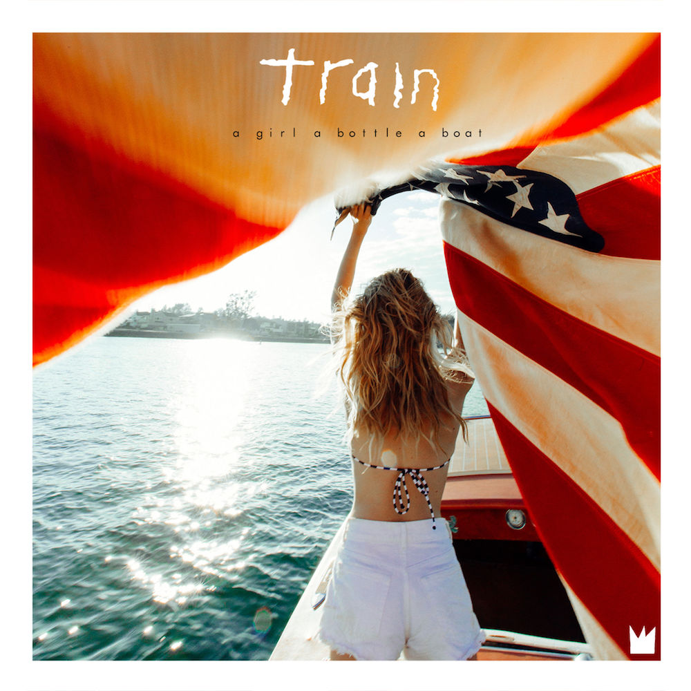Train:  a girl a bottle a boat