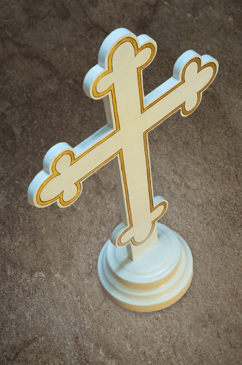 Wooden cross used in the Eastern Orthodox faith.