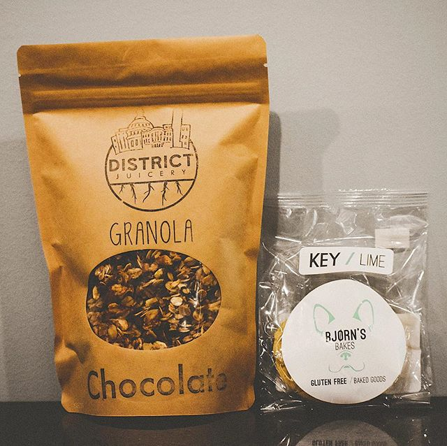 Now you can get your @districtjuicery granola AND your @bjornsbakes at @trifectobar in Clarksville Commons, MD!!