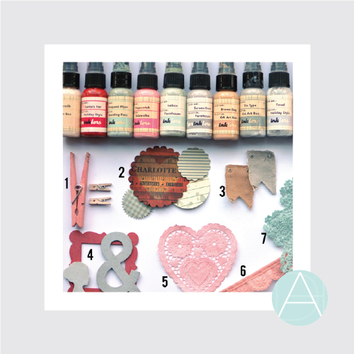Custom Coloring Embellishments with Chalk Ink