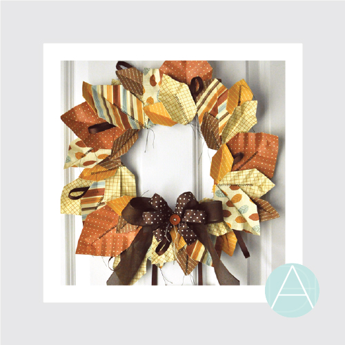 Origami Leaf Wreath