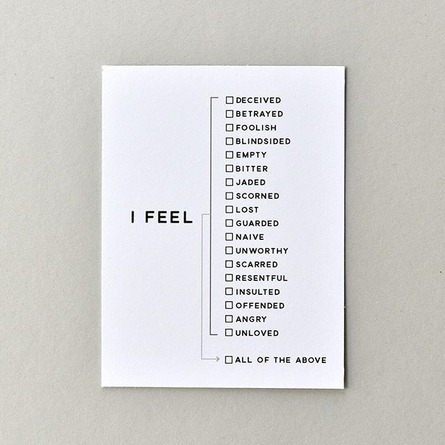 I FEEL | .....All of the Above . TRUST collection