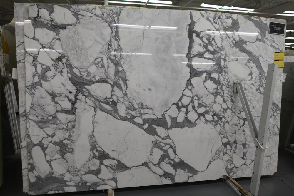 Calacatta marble (polished).