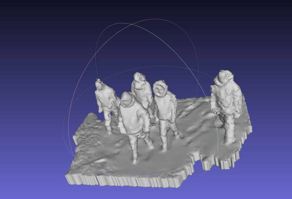 Screen capture of 1 million polygon 3D scans of 5 Kinngaitmiut (Cape Dorset) youth.