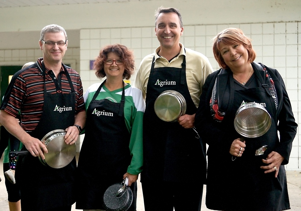 "Agrium announces a $25,000 donation to the new facility for the ""Agrium Kitchen"""