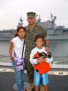 Ray with his two children.