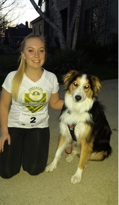 Jillian Yuricich ran with her dog, Logan.