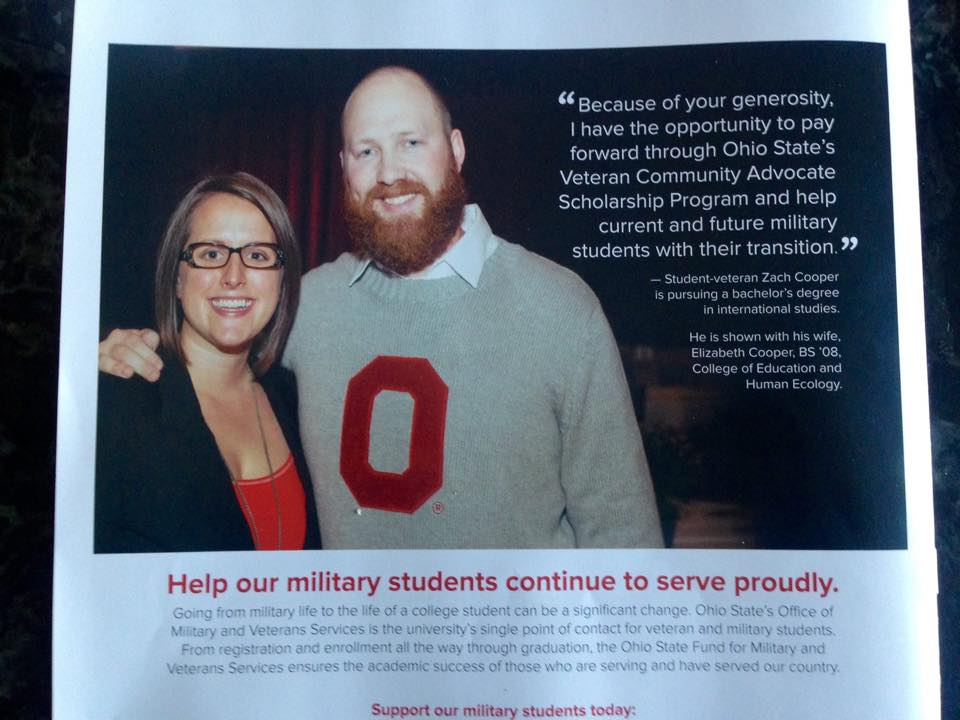 Our Veteran on staff, Zach Cooper, USMC, making waves through the alumni community! Our staff is diverse and motivated - they get things done and get on magazine covers!