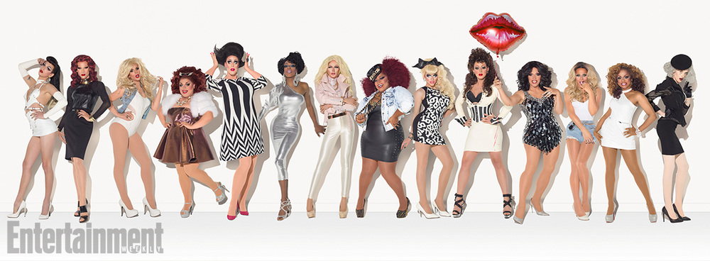 Drag Race Season 7contestants hear of someD&G going cheap andstart queuing (Picture Logo TV)