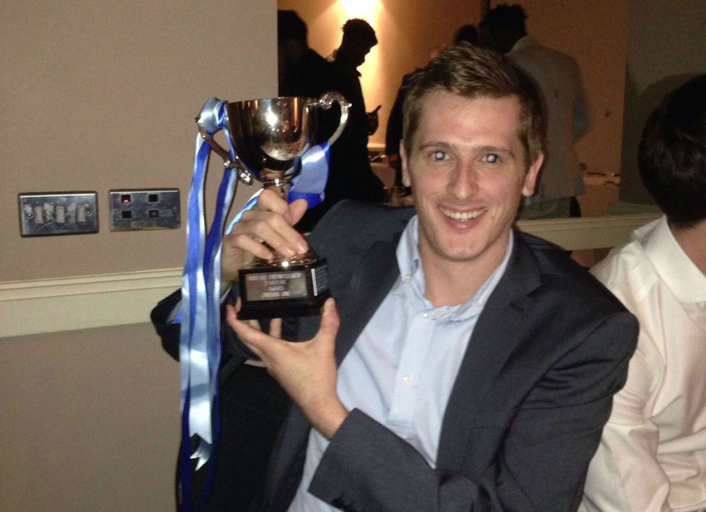 ECFC chairman Ben Westerman with the Fair Play Award