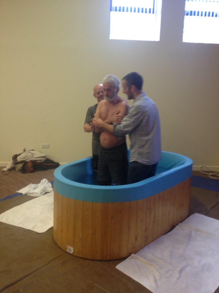 Joe gets baptised