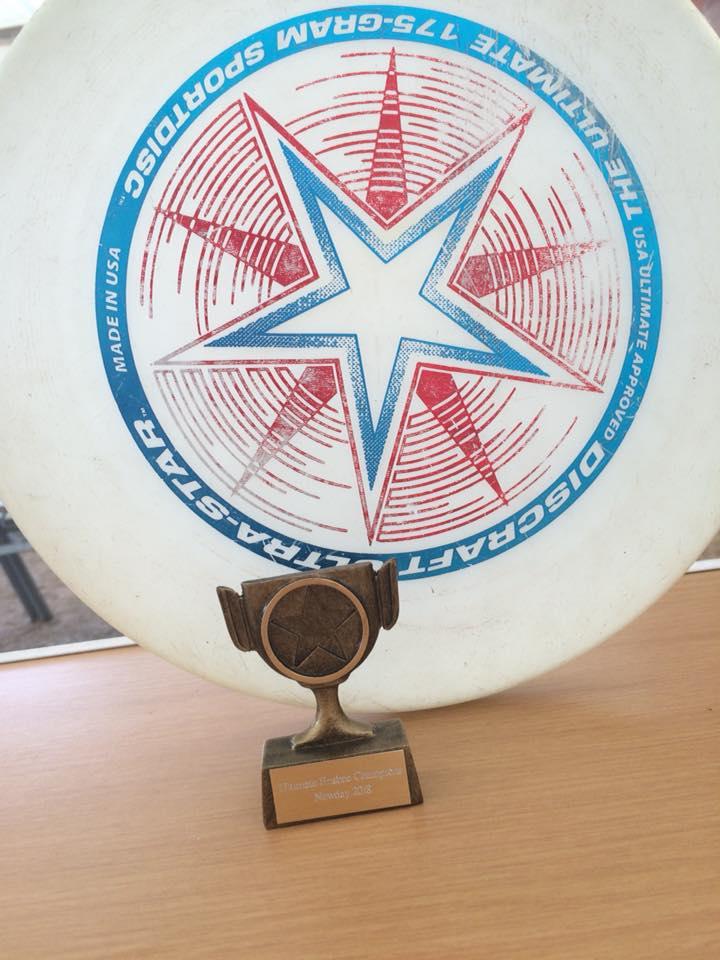 Frisbee champions!