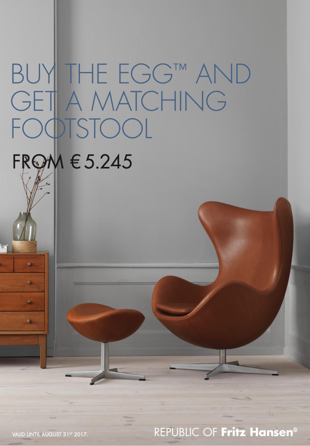 Koop de Egg Chair van Fritz Hansen en krijg er gratis een voetenbank ...