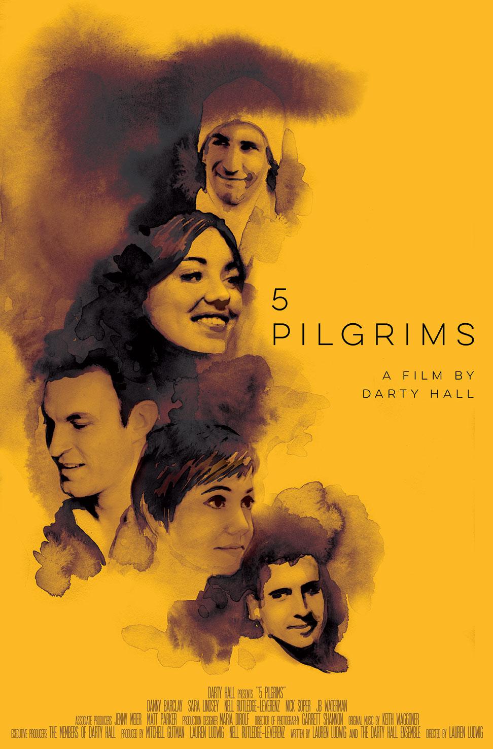 5 Pilgrims Movie Poster Illustration And Design