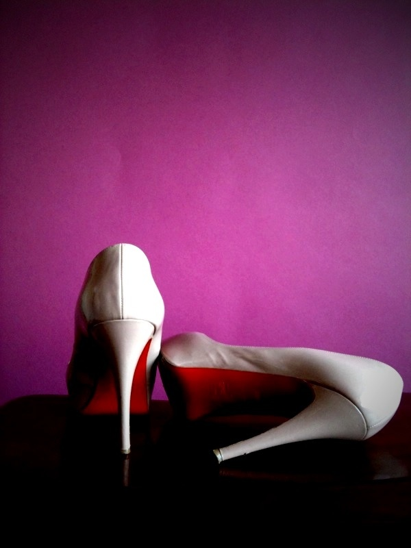 """Christian Louboutin """"Very Prive"""" Peep-Toe Pumps Nude, Red soles, Designer Shoes"""