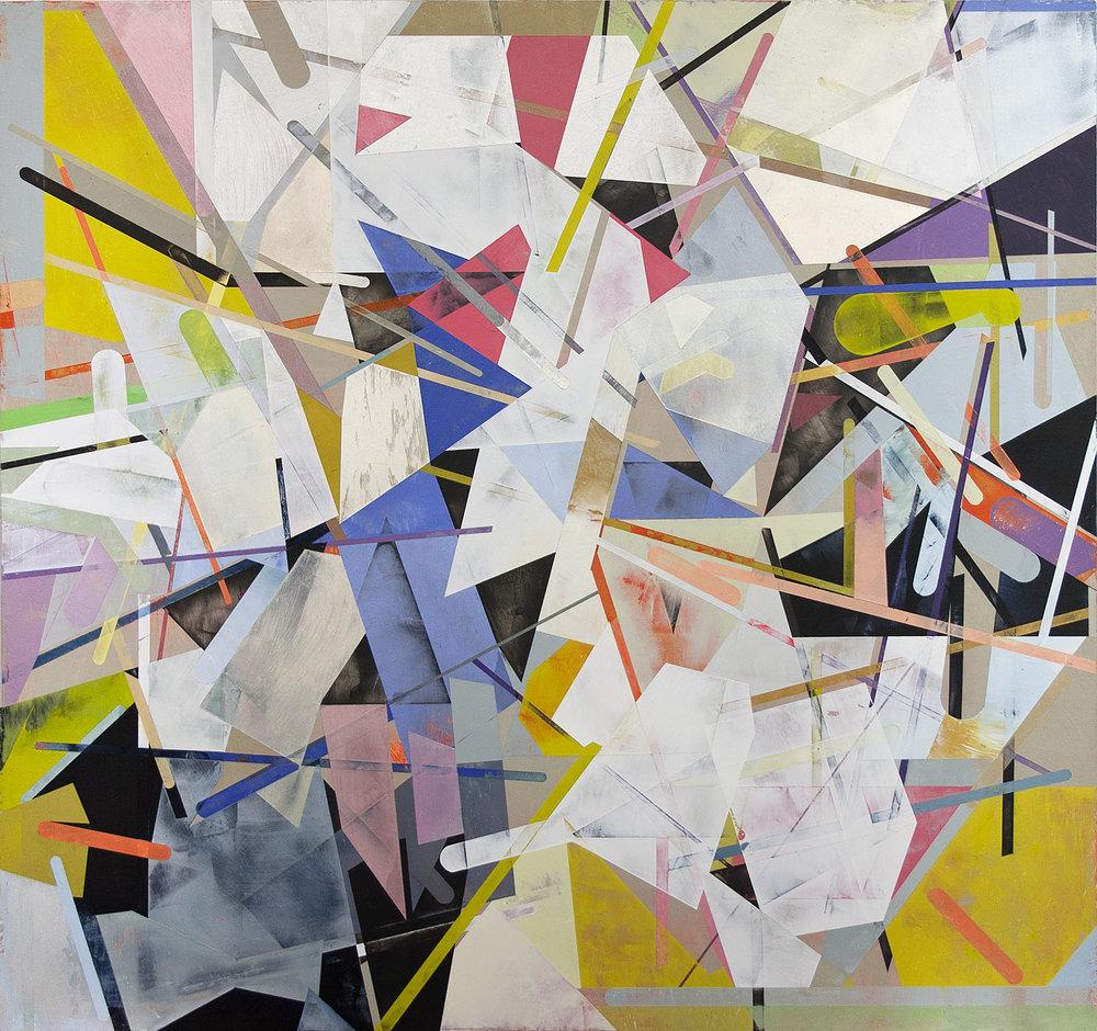 "Little Demons III---dry pigment/wax on pvc panel---32"" x 34"""