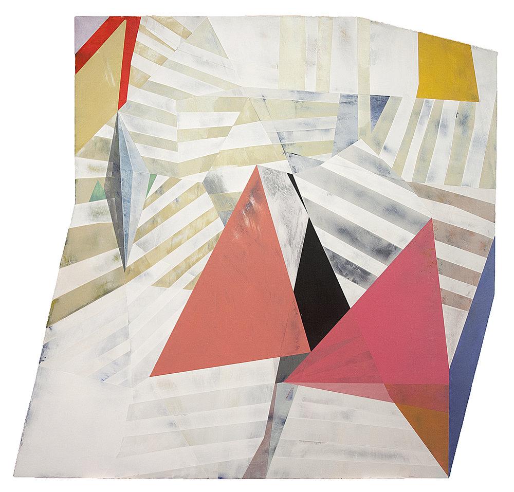 """Kaspaderra---dry pigment/wax on pvc panel---48"""" x 50.5"""""""