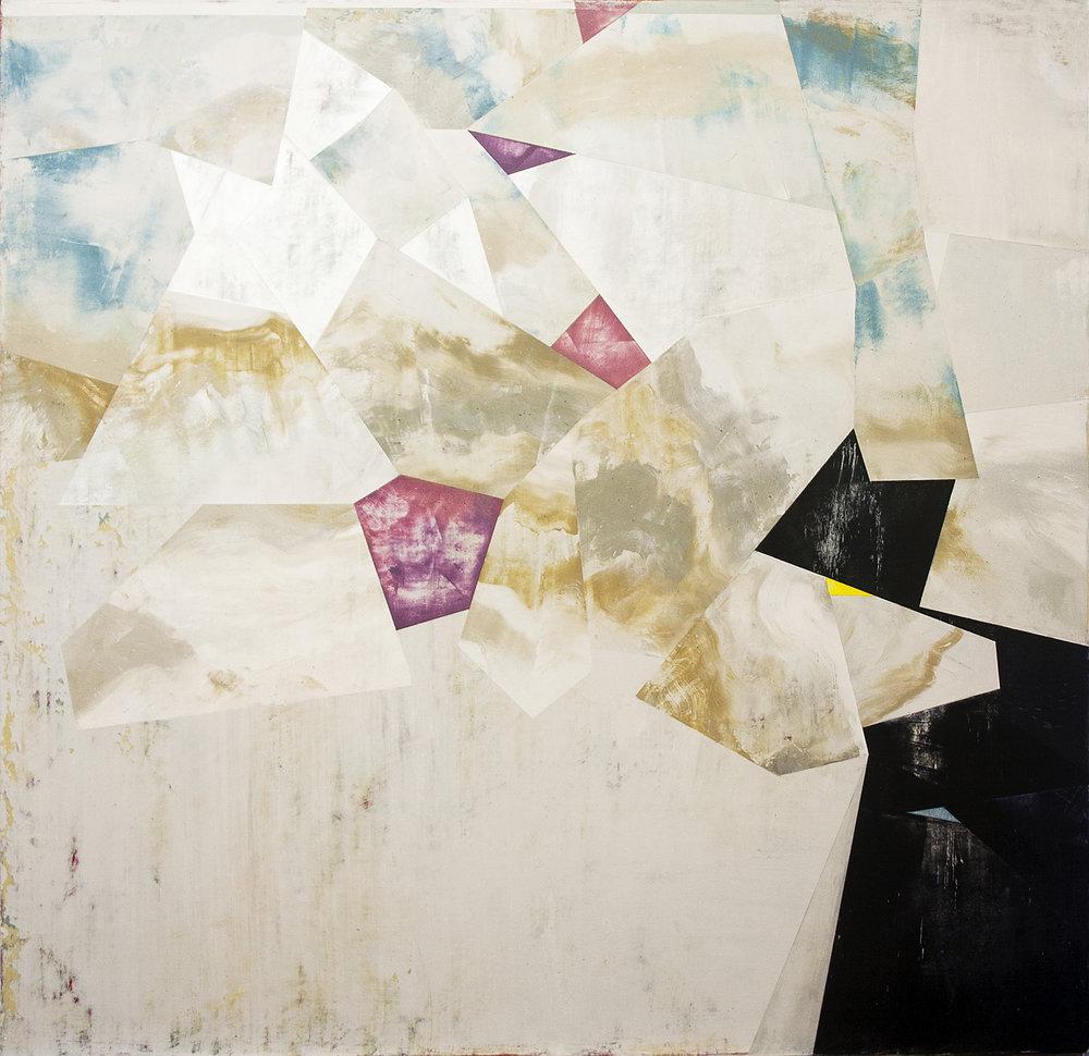 "Nuovi Paesaggi II---dry pigment/wax on canvas---23.25"" x 24"""
