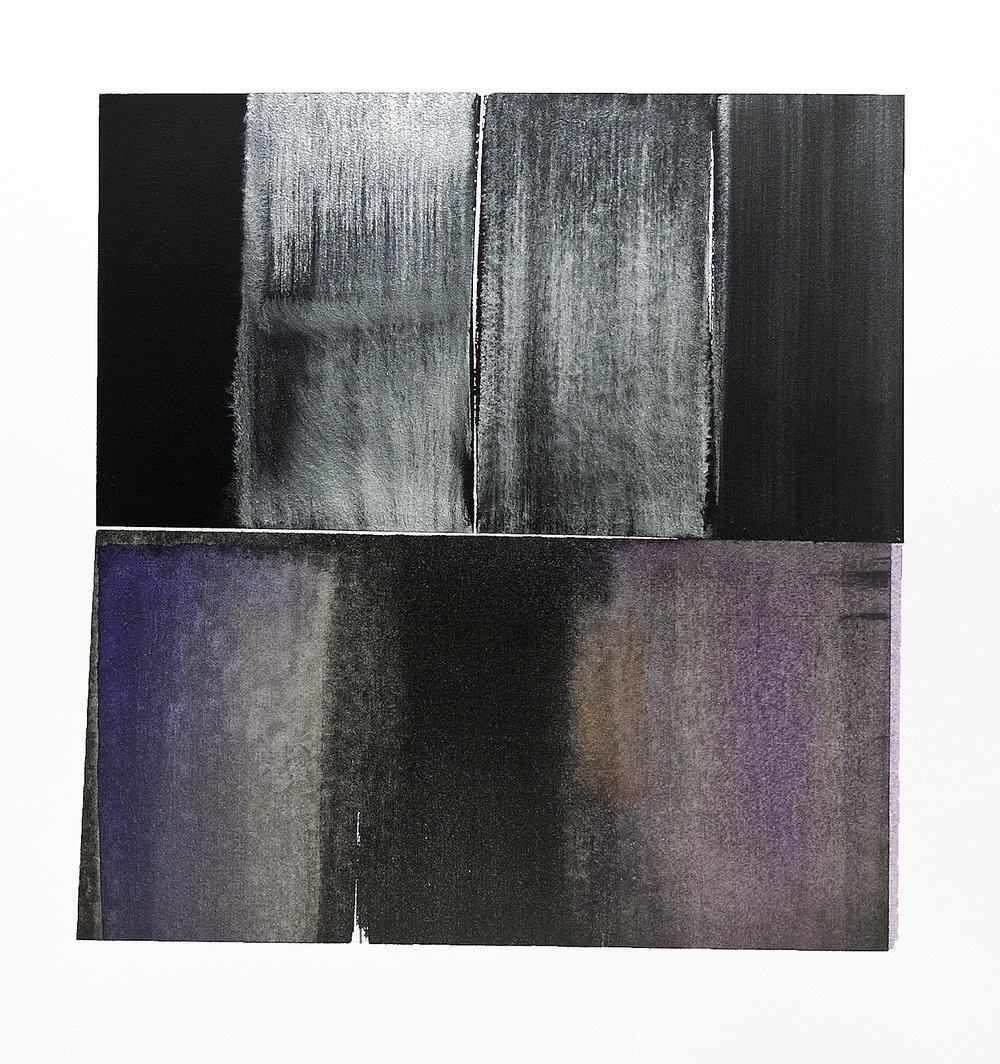 "starlight above the shallows---w/c on Fabriano Artistico---10.75"" x 10.25"""