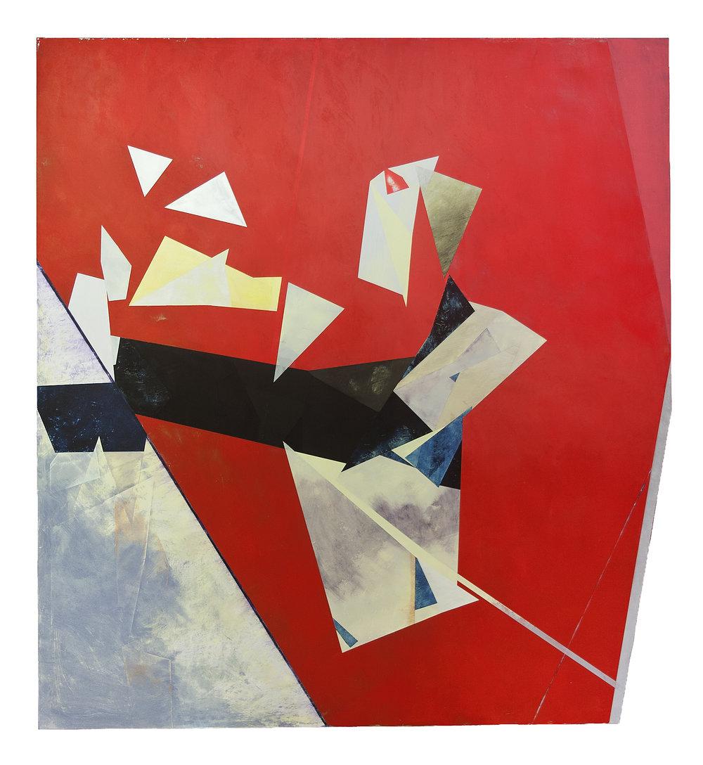 """Havana---dry pigment/wax on pvc panel---52"""" x 48"""""""
