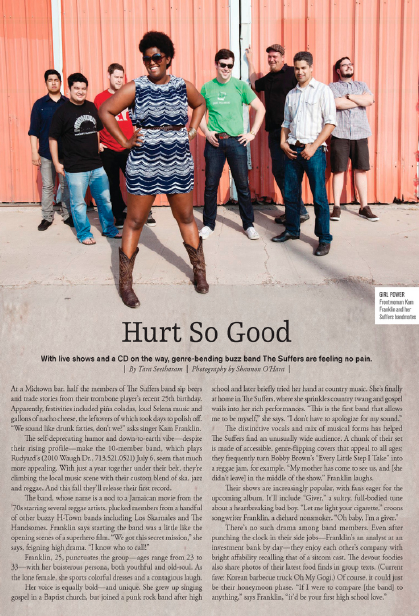 Hurt So Good: The Suffers Houston magazine - July 2012