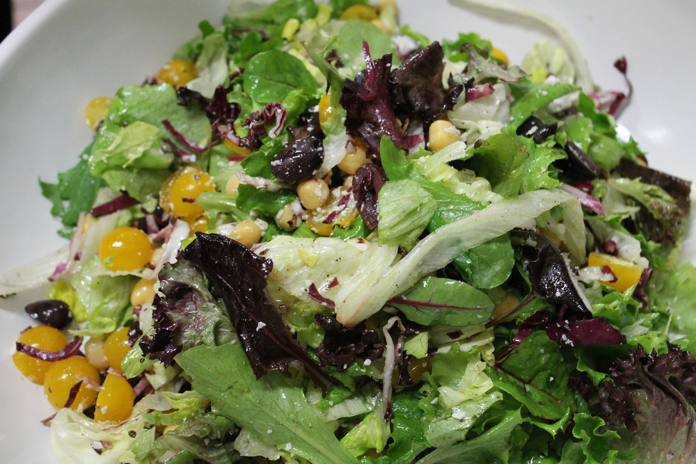 Pinot Noir pairs well with Mixed Green Salad