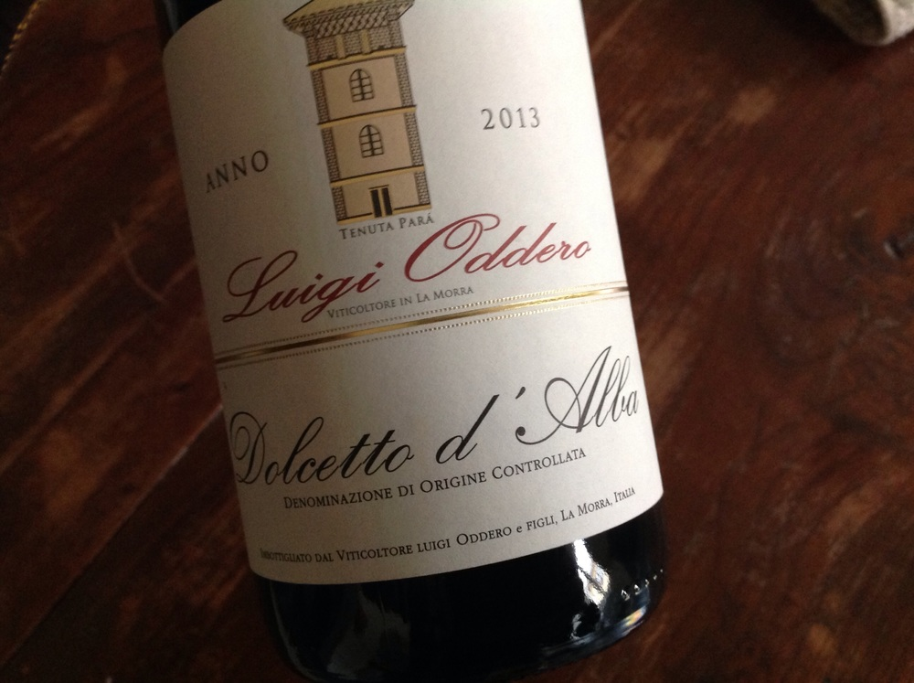 Dolcetto d'Alba. Easy drinker for the week.