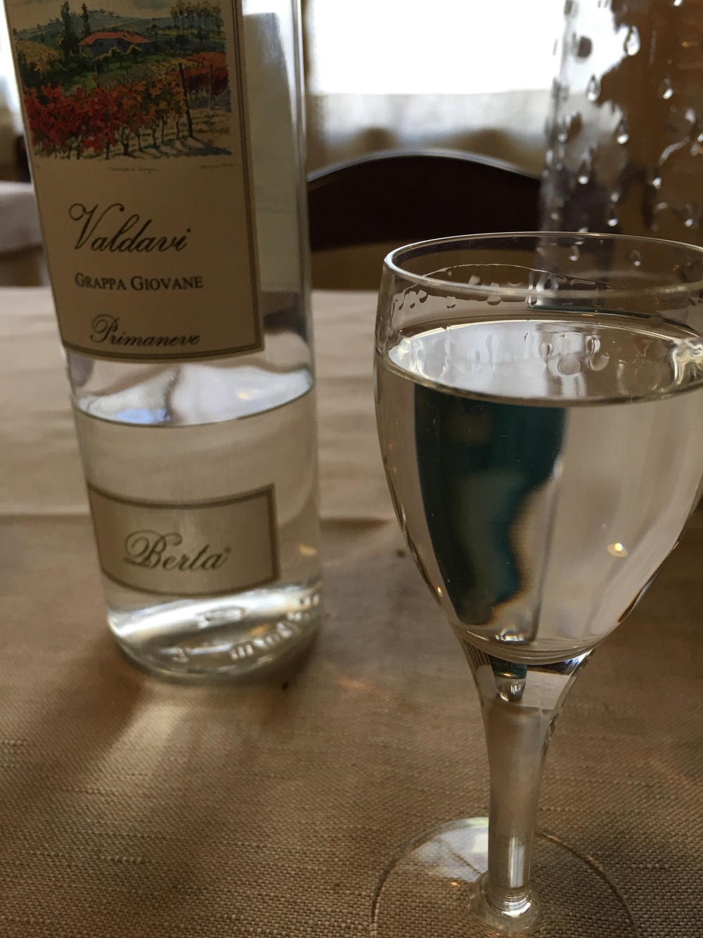 Grappa and the end of another meal