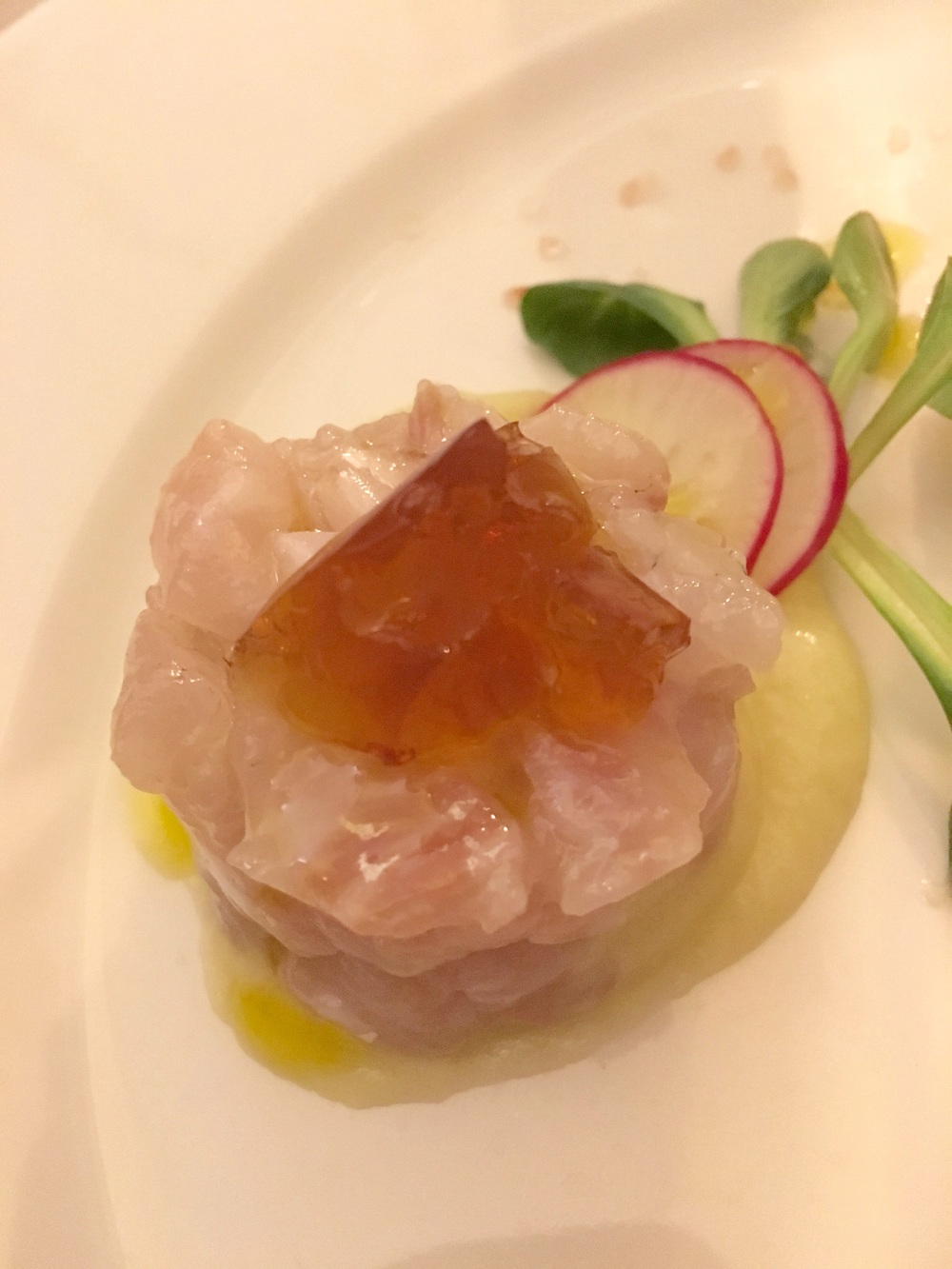 Best of the trio, sea bass crudo