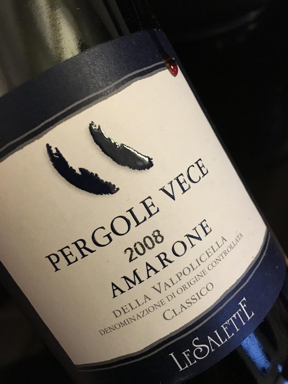 Pergola Vece 2008 Amarone, Le Salette