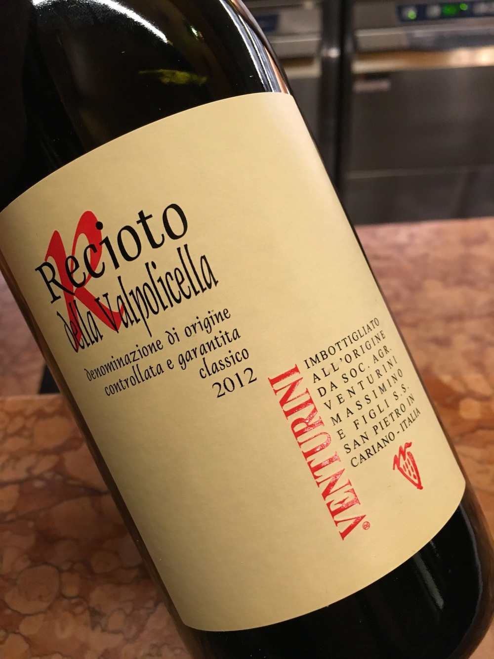 Recioto Valpolicella 2012, Venturini out of Cariano