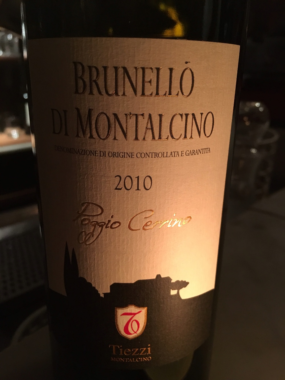 Brunello and this meal was a wonderful pairing