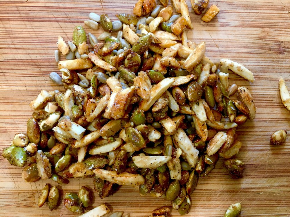 Toasted and Seasoned Nuts and Seeds