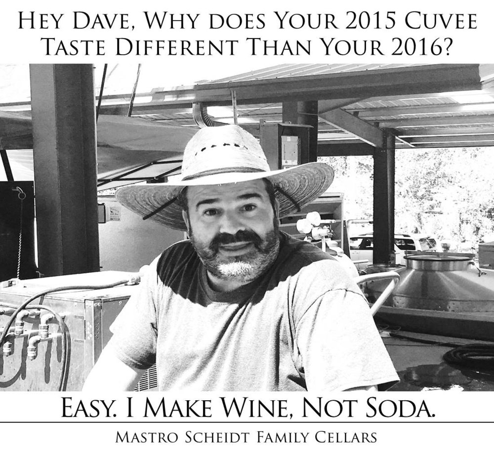 I make wine, not soda