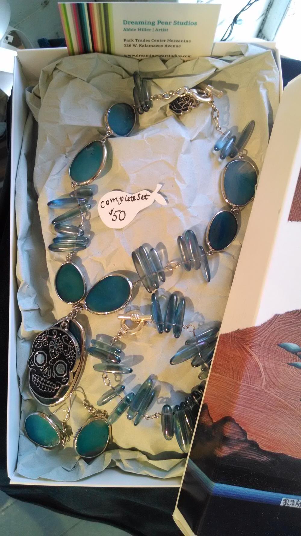 Jewelry set: Dia de los Muertos