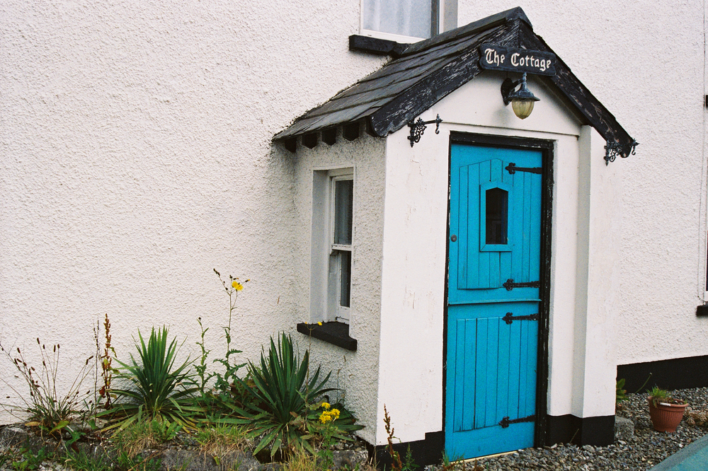 Film photograph: Blue Door; Greencastle, Republic of Ireland