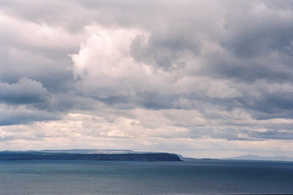 Film photograph: From Rathlin Ferry; Antrim Coast, Northern Ireland