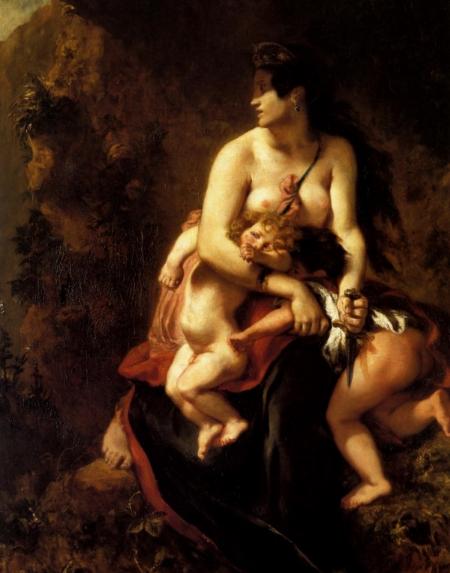 Eugene Delacroix, Medee Furieuse, 1838