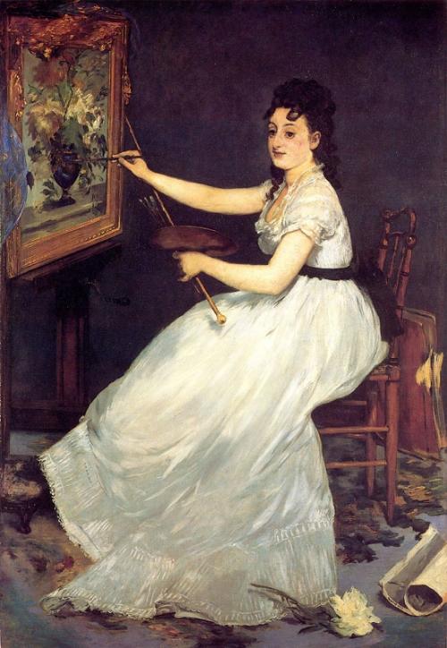 Portrait of Eva Gonzalez, 1869, Manet