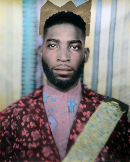 Tinie - 16 x 20 Unique Hand coloured print / 24ct Gold / 2015