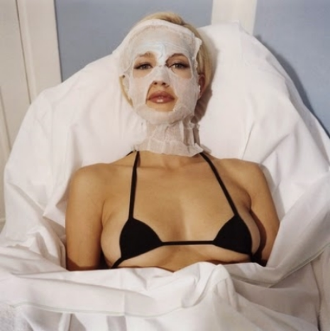 Karen Mulder with a Very Small Chanel Bra , January 1996