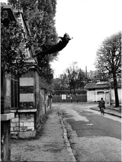 Shunk-Kender, Yves Klein's Saut dans le Vide, Fontenay-aux-Roses, France, 1960